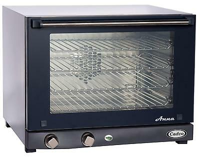 Cadco OV-023 Compact Half Size Convection Oven with Man
