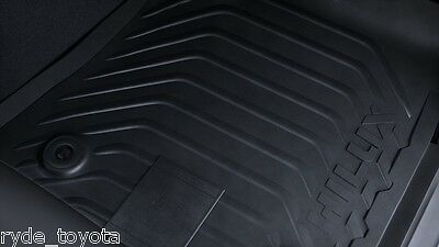 Hilux Front Rubber Floor Mats Automatic 07/15 On ** Toyota Genuine Parts **