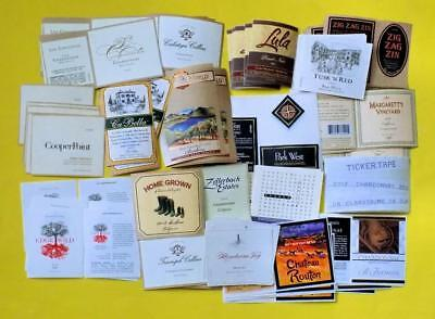 133 California Wine Labels Brand New Unused 19 Different Labels Lot