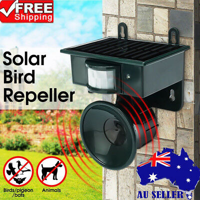 Solar Ultrasonic PIR Sensor Pest Repeller Animal Bats Bird Cat Dogs Chaser New