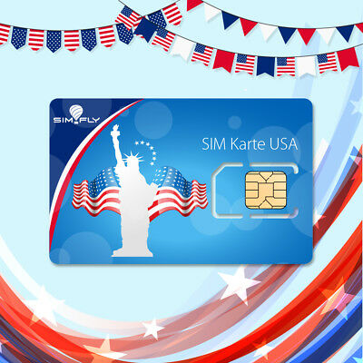 USA America Sim Card Lyca Prepaid / 6 GB Data + Flatrate Text / Talk + internat