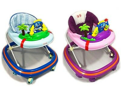 Baby Walker First Steps Penguin Push Along Bouncer Activity Music Ride On Music