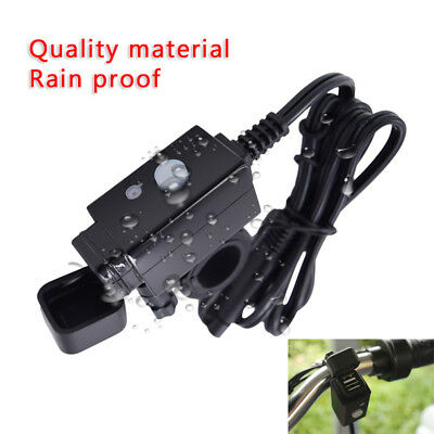 Motorcycle SAE to USB Cable Charger Adapter 2.1A Dual Ports Power Socket ABS+PVC