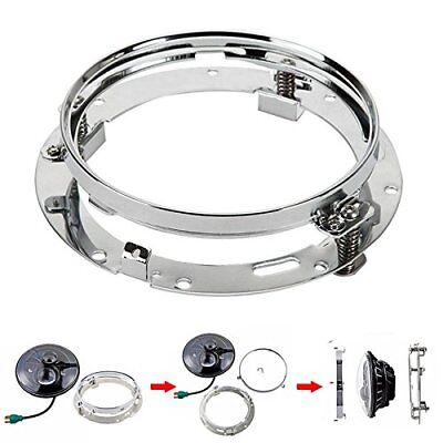 """For Harley Touring 1994-2013 7"""" Daymaker HID LED Headlight Mounting Ring Bracket"""