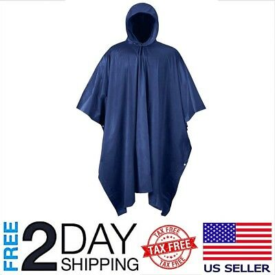 PVC 100% Rain Waterproof Poncho Raincoat Idustrial Heavy Duty Anti Storm Poncho