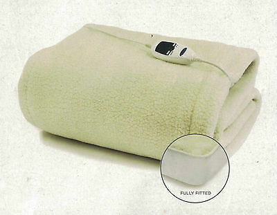 Jason Luxury Cosy Sherpa Electric Blanket Single With Fully Fitted Skirt New