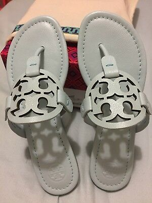 da66692c1a2c97 NIB TORY BURCH  228 BLACK EMBROIDERED MILLER THONG FLIP FLOP SANDAL ...