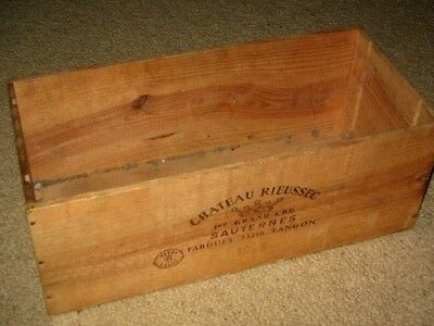 Chateau Rieussec Grand Cru Sauternes Sturdy Wood Wine Bottle Box PERTH Only