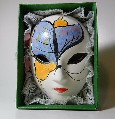 Vintage Chinese Mask with Lace Edging