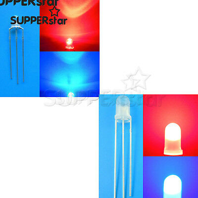 3/5mm Dual Bi-Color Red Blue/Green 3Pin LED Common Cathode/Anode LED Diode ASS