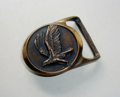 """TECH ETHER GUILD """"OSPREY"""" Belt Buckle-Solid Brass-RARE-Vintage 1979 Collectible"""