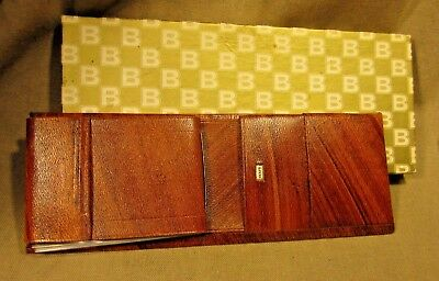 New Old Stock Vintage ROLFS Bi-Fold Cowhide Wood Grain Wallet  *Free Shipping *