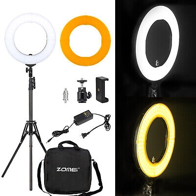 "14"" LED Ring Light with Stand Dimmable for Makeup live Phone Camera Selfie video"