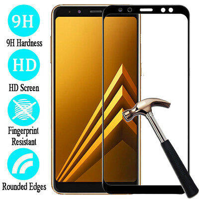 For Samsung Galaxy A6/A8/A8+ Full Cover Tempered Glass Screen Protector 3 Colors