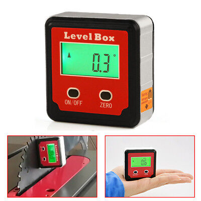 Digital Inclinometer Spirit Level Box Protractor Angle Finder Gauge Meter Magnet
