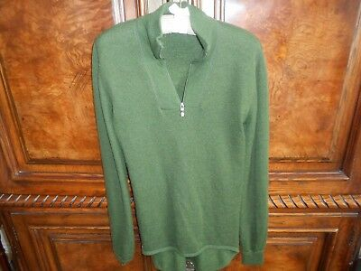 Vintage Ullfrote Woolpower men's small wool sweater forest green