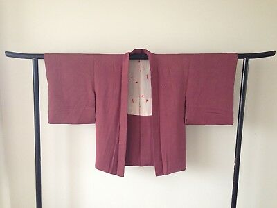Vintage Silk Japanese Jacket Haori One of a Kind Hand Made Authentic Old Kyoto
