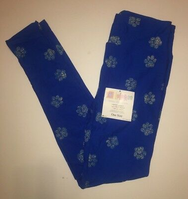 e4caba45849d3d Brand New Lularoe OS Blue & White Paw Print Cat Dog Leggings Rare Hard to  Find