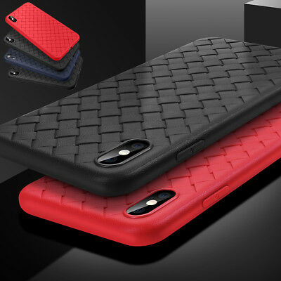 Ultra Thin Shockproof Tough Soft TPU Woven Case Cover For iPhone X XS Max XR NEW