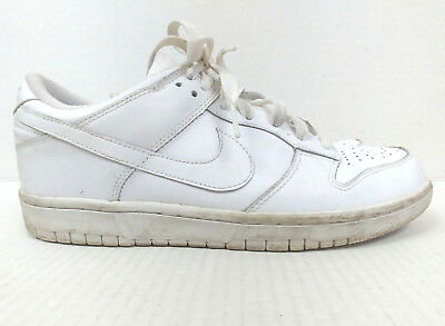 NIKE AIR FORCE White Low Pro Dunk Shoes Womens Size 9.5 Sneakers 317813 Athletic