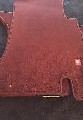 Rolls-Royce Silver Seraph 1998-2000 Cherry Red Floor Over Mats RH3000921 NOS OEM