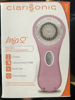 Clarisonic Mia 2 Pearl Pink Sonic Skin Cleansing System Mia2 PINK NIB FAST SHIP