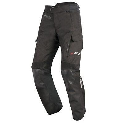 Alpinestars V2 Drystar Waterproof Textile Motorcycle Trousers Black Short Leg