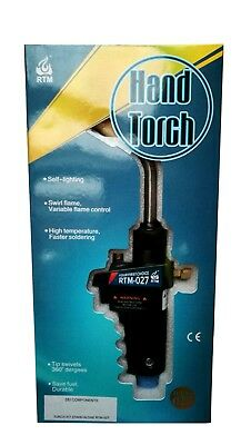 Upright Hand Torch - Stand Alone - Suits Mapp Gas Cylinders - Rtm-027 - 4652E