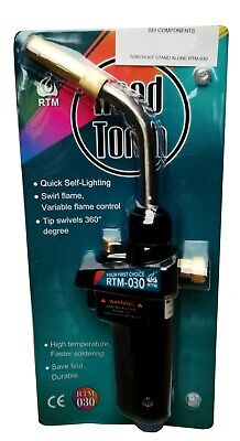 Upright Hand Torch - Stand Alone - Suits Mapp Gas Cylinders - Rtm-030 - 4652F