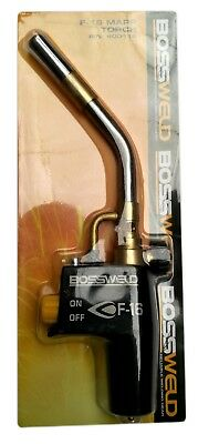 Bossweld Hand Torch - Stand Alone - Suits Mapp Gas Cylinders - F-16 - 4652G