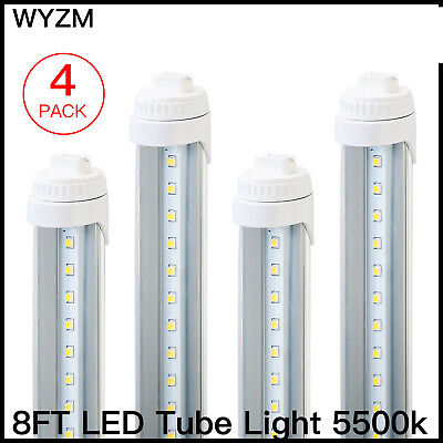 4 Pack R17D 8 Feet 40W LED Tube Light Fluorescent Replacement for F96T12/CW/HO