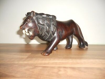 Unusual Vintage Caraved Black Forest Lion