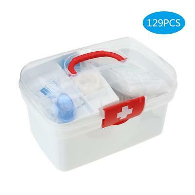 129PCS All Purpose First Aid Kits Box for Home Car Outdoor Family Emergency S6A1