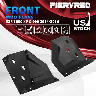 14-16 Polaris RZR  XP s 1000 Turbo 2pcs Splash Guard Front Fenders Mud Flaps