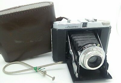 Vintage German Medium 6x6 format DACORA Film Camera with its leather case