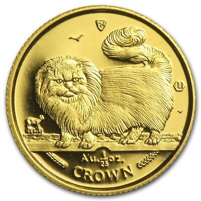 1997 Isle of Man 1/25 oz Gold Coin - Long Haired Smoke Cat