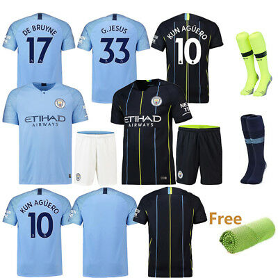 18-19 New Football Kid Boy Jersey Kit Soccer Outfit Short Sleeve Club Suit+Socks