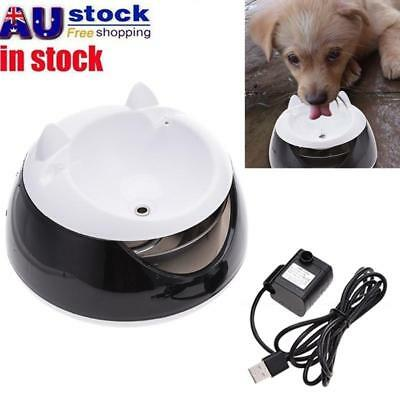 1.5L USB Automatic Pet Dog Cat Water Drinking Feeder Dispenser Bowl Dish AU