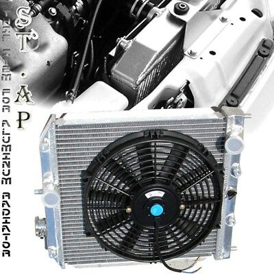 "92-00 Civic/Delsol/ Integra Aluminium Dual Core 2 Row Racing Radiator + 10 "" cm"