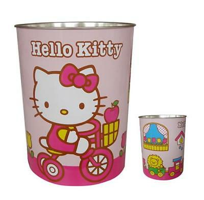 Hello Kitty Metallic Wast Paper Bin Basket