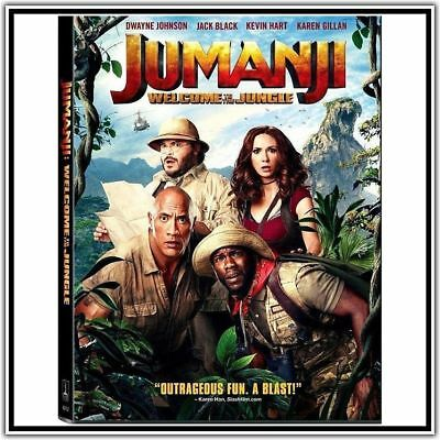 JUMANJI: Welcome to the Jungle (DVD,2018)