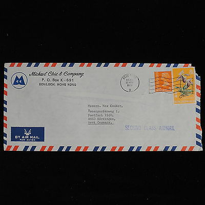 ZS-AC586 HONG KONG - Cover, 1977 From Kowloon To Germany, 2Nd Class Airmail