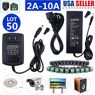 Universal 2A 3A 5A 6A 8A 10A DV 12V Adapter Power Supply For LED Strip Light LOT