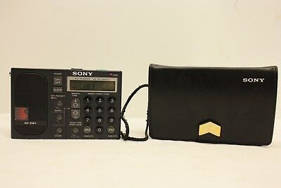 SONY ICF-SW1 Mini Portable FM STEREO  LW MW SW Radio RECEIVER IN CASE