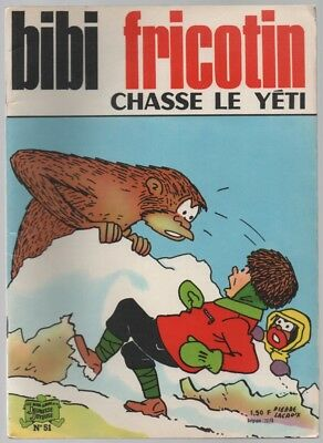 Bibi Fricotin N°51 ... Chasse Le Yeti ... Reedition 1969