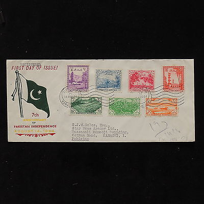 ZS-AB769 PAKISTAN - Fdc, 1954 75Th Anniv. Of Independence To Karachi Cover