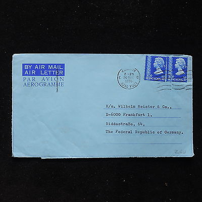 ZS-AC024 HONG KONG - Airletter, 1976 From Konloon To Frankfurt Germany Cover