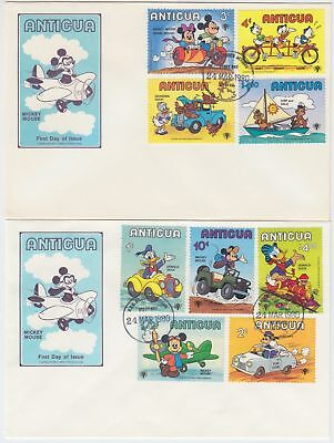 ZS-AD594 ANTIGUA IND - Walt Disney, Cars, Aviation Set FDC Covers