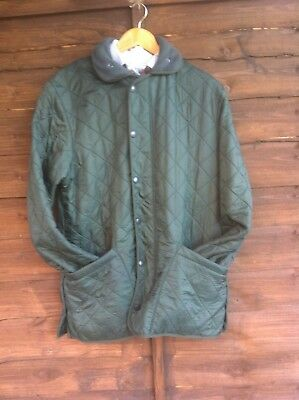 Barbour Polarquilt Long quilted country designer jacket size s-medium