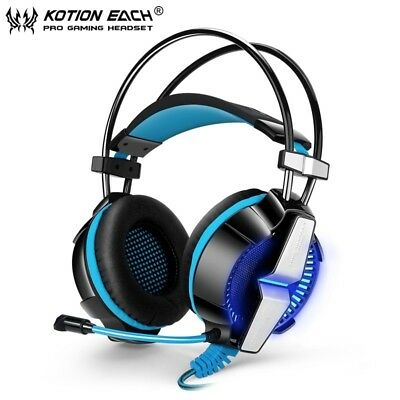 EACH GS700 Stereo Bass Surround Gaming Headset for PS4 New Xbox One PC Blue Mic